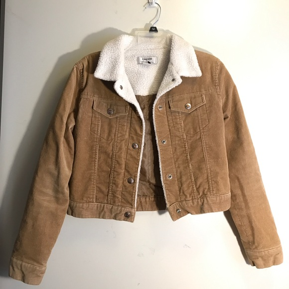 Jackets Coats Sherpa Lined Fur Collar Tan Corduroy Jacket Poshmark